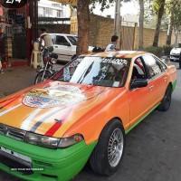 برچسب و خط کشی اتومبیل در خیابان فروغی