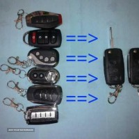 ساخت انواع ریموت  تاشو  - کلید ریموت خودرو نوین